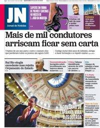 capa Jornal de Notícias de 8 janeiro 2020