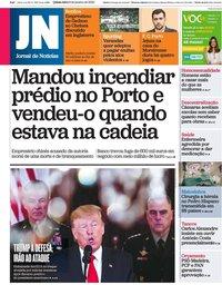 capa Jornal de Notícias de 9 janeiro 2020