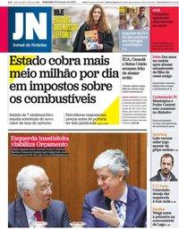 capa Jornal de Notícias de 10 janeiro 2020