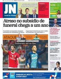 capa Jornal de Notícias de 11 janeiro 2020