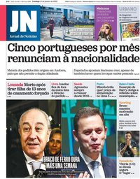 capa Jornal de Notícias de 12 janeiro 2020