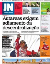 capa Jornal de Notícias de 13 janeiro 2020