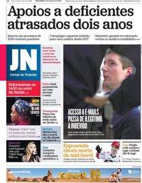 capa Jornal de Notícias de 14 janeiro 2020