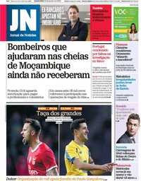 capa Jornal de Notícias de 15 janeiro 2020