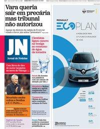 capa Jornal de Notícias de 16 janeiro 2020