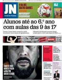 capa Jornal de Notícias de 17 janeiro 2020