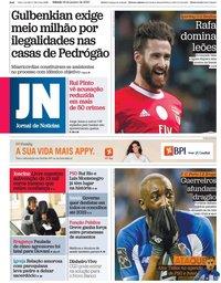 capa Jornal de Notícias de 18 janeiro 2020
