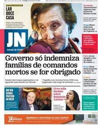 capa Jornal de Notícias de 19 janeiro 2020
