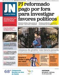 capa Jornal de Notícias de 20 janeiro 2020