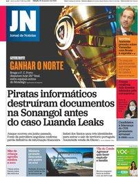 capa Jornal de Notícias de 25 janeiro 2020