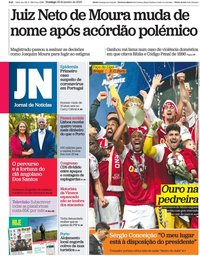 capa Jornal de Notícias de 26 janeiro 2020