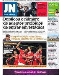 capa Jornal de Notícias de 27 janeiro 2020