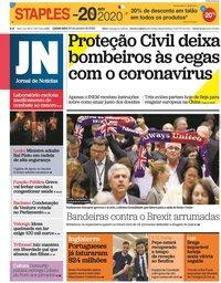 capa Jornal de Notícias de 30 janeiro 2020