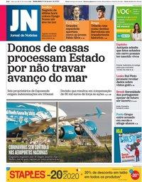 capa Jornal de Notícias de 31 janeiro 2020