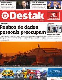 capa Jornal Destak de 7 janeiro 2020