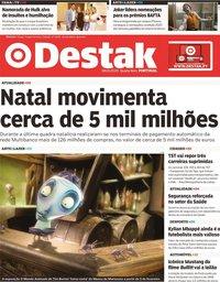 capa Jornal Destak de 8 janeiro 2020