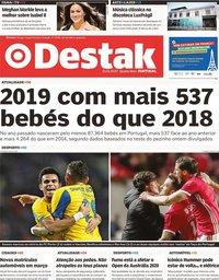 capa Jornal Destak de 15 janeiro 2020
