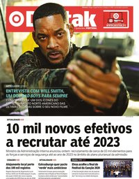 capa Jornal Destak de 16 janeiro 2020