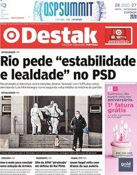 capa Jornal Destak de 20 janeiro 2020
