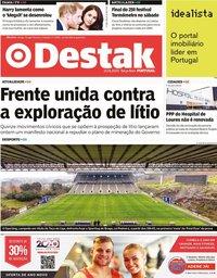 capa Jornal Destak de 21 janeiro 2020