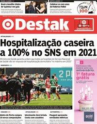 capa Jornal Destak de 22 janeiro 2020