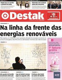 capa Jornal Destak de 24 janeiro 2020