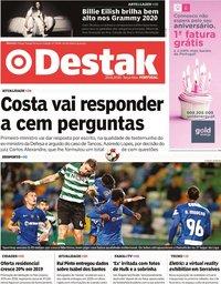 capa Jornal Destak de 28 janeiro 2020