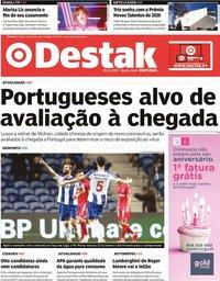capa Jornal Destak de 29 janeiro 2020