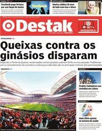 capa Jornal Destak de 31 janeiro 2020