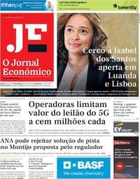 capa Jornal Económico de 24 janeiro 2020