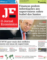 capa Jornal Económico de 31 janeiro 2020