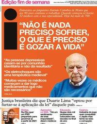 capa Jornal i de 3 janeiro 2020