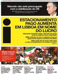 capa Jornal i de 6 janeiro 2020