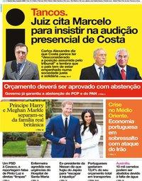 capa Jornal i de 9 janeiro 2020