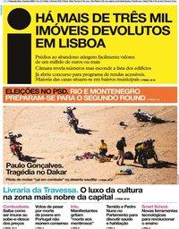 capa Jornal i de 13 janeiro 2020