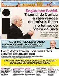 capa Jornal i de 16 janeiro 2020