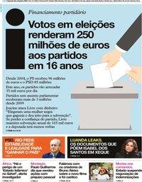capa Jornal i de 20 janeiro 2020