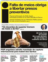 capa Jornal i de 21 janeiro 2020