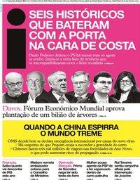 capa Jornal i de 22 janeiro 2020