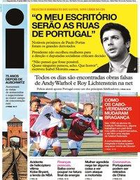 capa Jornal i de 27 janeiro 2020