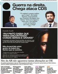 capa Jornal i de 28 janeiro 2020