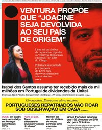 capa Jornal i de 29 janeiro 2020