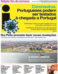 capa Jornal i de 31 janeiro 2020