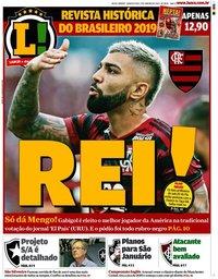 capa Jornal Lance! Rio de Janeiro de 2 janeiro 2020