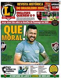 capa Jornal Lance! Rio de Janeiro de 3 janeiro 2020