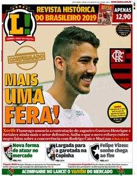 capa Jornal Lance! Rio de Janeiro de 4 janeiro 2020