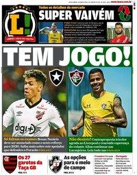 capa Jornal Lance! Rio de Janeiro de 6 janeiro 2020