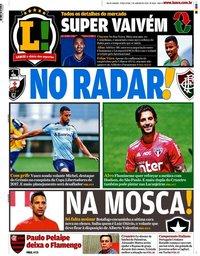 capa Jornal Lance! Rio de Janeiro de 7 janeiro 2020