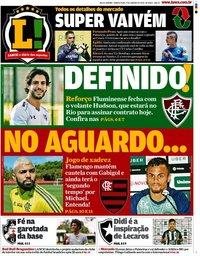 capa Jornal Lance! Rio de Janeiro de 9 janeiro 2020
