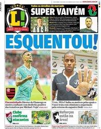 capa Jornal Lance! Rio de Janeiro de 10 janeiro 2020